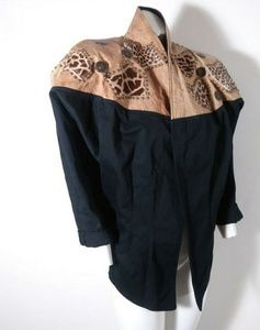 SERIOUSLY 80's Leather studed fur denim Jacket